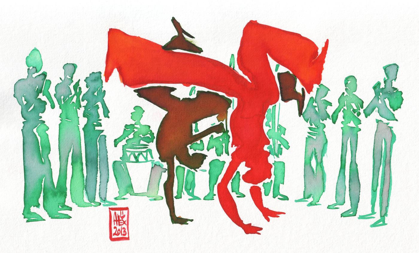 Capoeira festmény