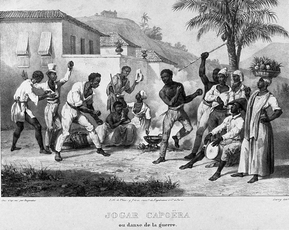 Capoeira játék - régi kép
